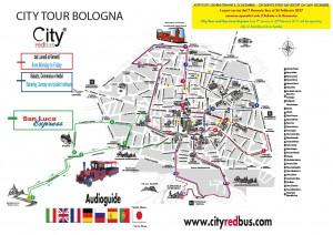Mappa City Tour Bologna + SanLuca Express dal 1DICEMBRE 2016 al 28 Febbraio 20172