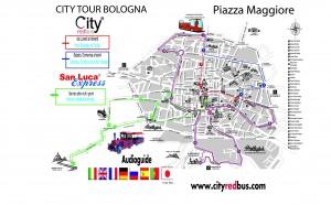 Mappa FERMATE   City Tour City Tour + San Luca GIUGNO-agosto 2016