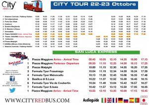 Orari City Tour Bologna  BUS e San Luca Express 22-23 Ott  2016
