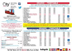 Orari City Tour Bologna dal 1DICEMBRE 2016 al 28 Febbraio 2017